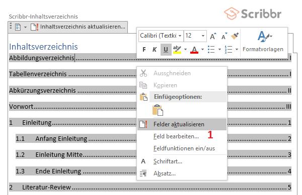 scribbr-inhaltsverzeichnis-word-aktualisieren