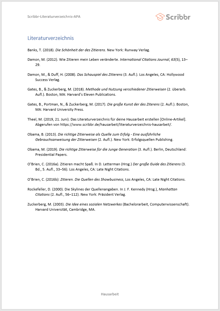 Literaturverzeichnis-Hausarbeit-Beispiel-APA